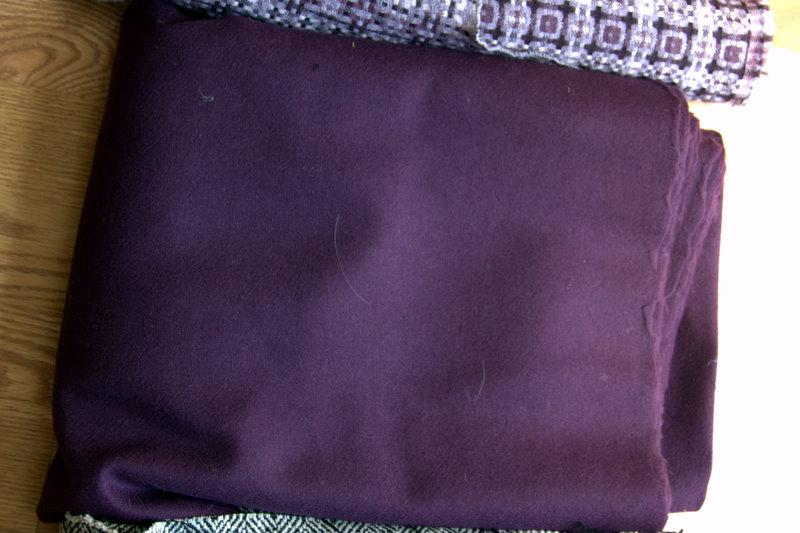 fabric 2 purple solid wool